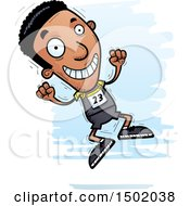 Clipart Of A Jumping Black Male Track And Field Athlete Royalty Free Vector Illustration