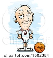 Clipart Of A Confident White Senior Male Basketball Player Royalty Free Vector Illustration