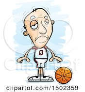 Sad White Senior Male Basketball Player