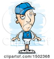 Clipart Of A Sad White Senior Male Coach Royalty Free Vector Illustration