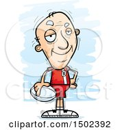 Clipart Of A Confident White Senior Male Rugby Player Royalty Free Vector Illustration