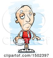 Clipart Of A Sad White Senior Male Rugby Player Royalty Free Vector Illustration