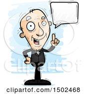 Clipart Of A Talking Caucasian Senior Man In A Tuxedo Royalty Free Vector Illustration