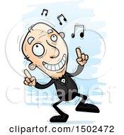 Clipart Of A Dancing Caucasian Senior Man In A Tuxedo Royalty Free Vector Illustration
