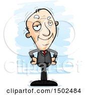 Confident Caucasian Senior Business Man