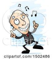 Happy Dancing Caucasian Senior Business Man