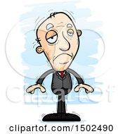 Sad Caucasian Senior Business Man