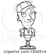 Clipart Of A Confident Senior Male Coach Royalty Free Vector Illustration