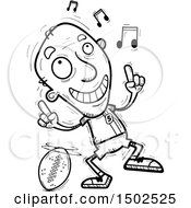 Clipart Of A Senior Male Football Player Doing A Happy Dance Royalty Free Vector Illustration
