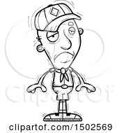 Clipart Of A Sad Senior Male Scout Royalty Free Vector Illustration