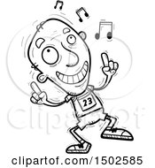 Clipart Of A Senior Male Track And Field Athlete Doing A Happy Dance Royalty Free Vector Illustration