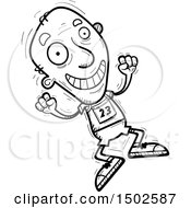 Clipart Of A Jumping Senior Male Track And Field Athlete Royalty Free Vector Illustration