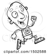 Clipart Of A Running Senior Male Track And Field Athlete Royalty Free Vector Illustration
