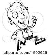 Clipart Of A Running Senior Man In A Tuxedo Royalty Free Vector Illustration