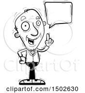 Clipart Of A Talking Senior Man In A Tuxedo Royalty Free Vector Illustration