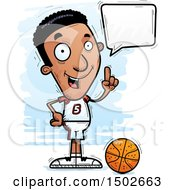 Clipart Of A Talking Black Male Basketball Player Royalty Free Vector Illustration