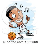 Clipart Of A Black Male Basketball Player Doing A Happy Dance Royalty Free Vector Illustration
