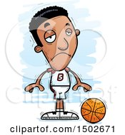 Clipart Of A Sad Black Male Basketball Player Royalty Free Vector Illustration