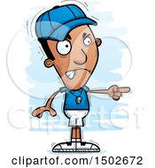Clipart Of A Mad Pointing Black Male Coach Royalty Free Vector Illustration
