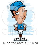 Clipart Of A Confident Black Male Coach Royalty Free Vector Illustration