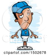 Clipart Of A Sad Black Male Coach Royalty Free Vector Illustration