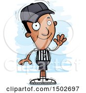 Clipart Of A Waving Black Male Referee Royalty Free Vector Illustration