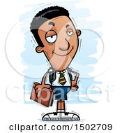 Clipart Of A Confident Black Male College Student Royalty Free Vector Illustration