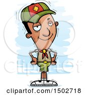 Clipart Of A Confident Black Male Scout Royalty Free Vector Illustration