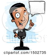 Clipart Of A Talking African American Man In A Tuxedo Royalty Free Vector Illustration