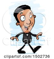 Clipart Of A Walking African American Man In A Tuxedo Royalty Free Vector Illustration