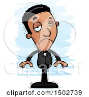 Clipart Of A Sad African American Man In A Tuxedo Royalty Free Vector Illustration