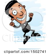 Clipart Of A Jumping African American Man In A Tuxedo Royalty Free Vector Illustration