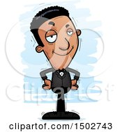 Clipart Of A Confident African American Man In A Tuxedo Royalty Free Vector Illustration