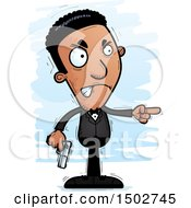 Clipart Of A Mad African American Male Spy Or Secret Service Agent Royalty Free Vector Illustration