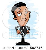 Clipart Of A Confident African American Male Spy Or Secret Service Agent Royalty Free Vector Illustration