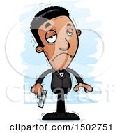 Clipart Of A Sad African American Male Spy Or Secret Service Agent Royalty Free Vector Illustration by Cory Thoman