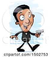 Clipart Of A Walking African American Male Spy Or Secret Service Agent Royalty Free Vector Illustration by Cory Thoman