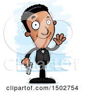 Clipart Of A Waving African American Male Spy Or Secret Service Agent Royalty Free Vector Illustration by Cory Thoman