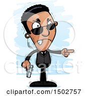Clipart Of A Mad African American Male Secret Service Agent Royalty Free Vector Illustration by Cory Thoman