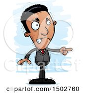 Clipart Of A Mad African American Business Man Royalty Free Vector Illustration