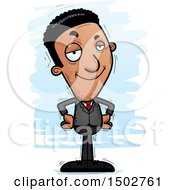 Clipart Of A Confident African American Business Man Royalty Free Vector Illustration
