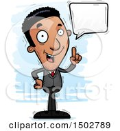 Clipart Of A Talking African American Business Man Royalty Free Vector Illustration