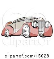 Poster, Art Print Of Red And Grey Luxury Sedan Car