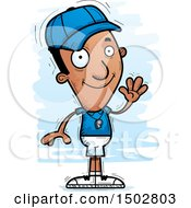 Clipart Of A Waving Black Male Coach Royalty Free Vector Illustration