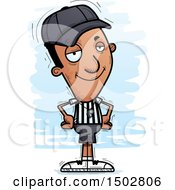 Clipart Of A Confident Black Male Referee Royalty Free Vector Illustration by Cory Thoman