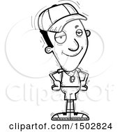 Clipart Of A Black And White Confident Black Male Coach Royalty Free Vector Illustration