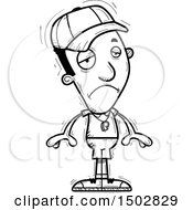 Clipart Of A Black And White Sad Black Male Coach Royalty Free Vector Illustration