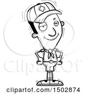 Clipart Of A Black And White Confident Black Male Scout Royalty Free Vector Illustration