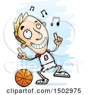 White Male Basketball Player Doing A Happy Dance