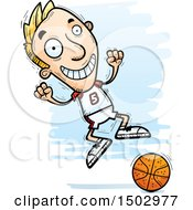 Jumping White Male Basketball Player